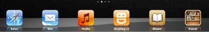 Ikona webu na ploše Apple Ipad